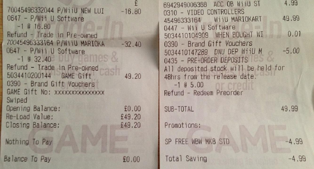 How to redeem your download code for nintendo wii u - Mario_kart_8_receipt